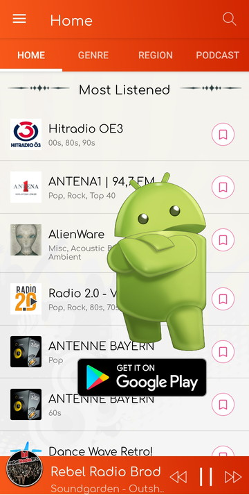 SHOUTcast radio download apk